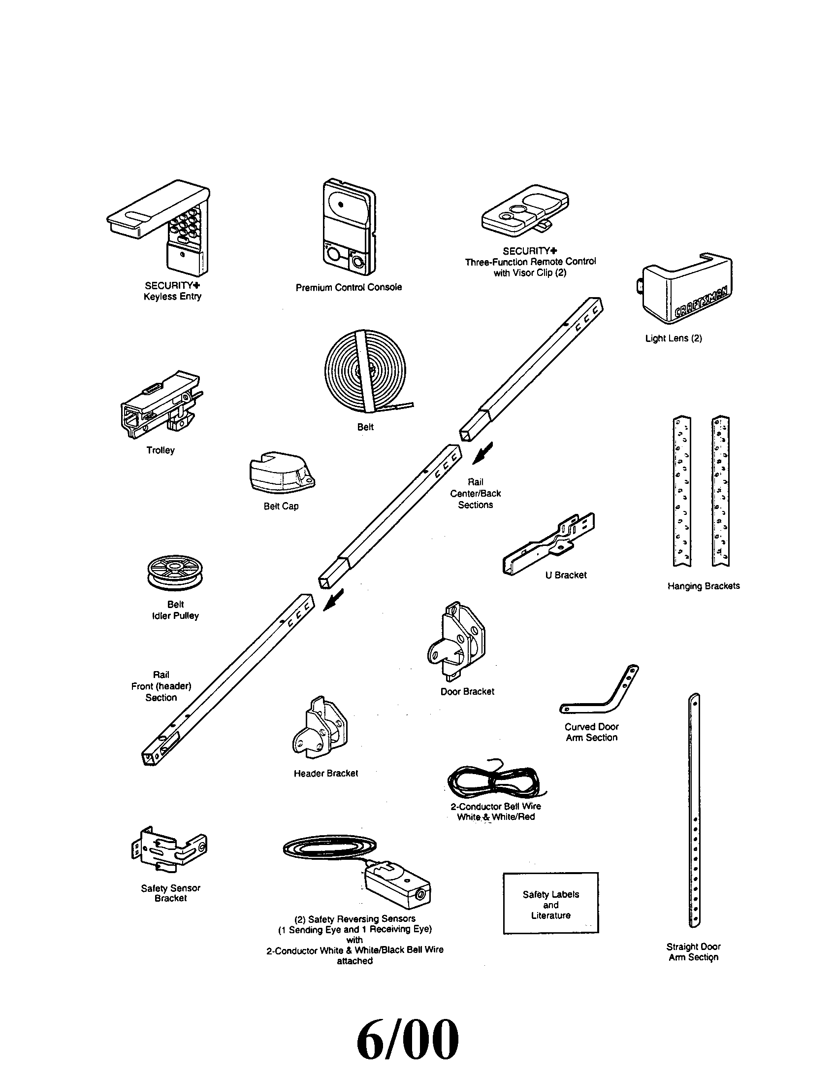 Garage Door Parts Genie Garage Door Parts Diagram