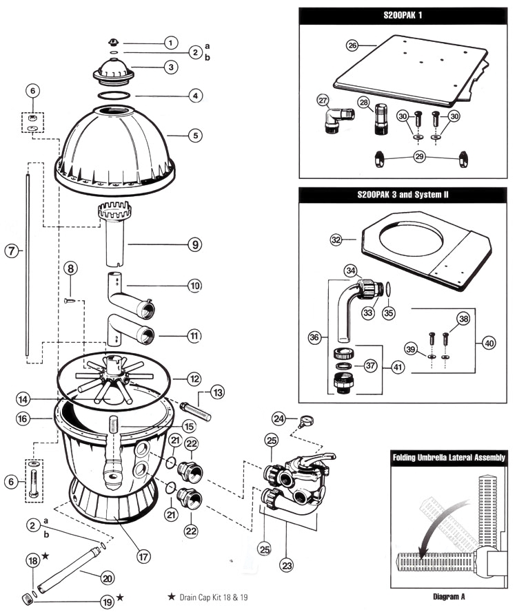Parts For Hayward Pro Series S200 Sand Filters - Discount Hayward regarding Hayward Pool Filter Parts Diagram