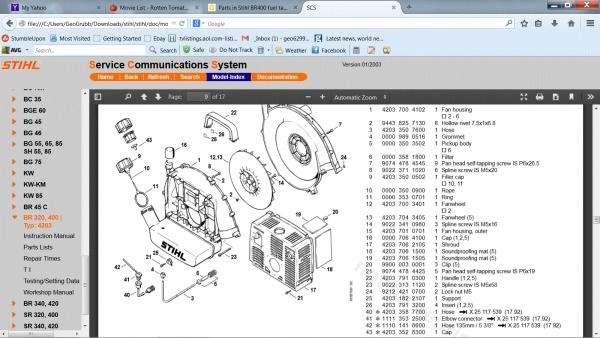 Parts In Stihl Br400 Fuel Tank - Doityourself Community Forums throughout Stihl Leaf Blower Parts Diagram