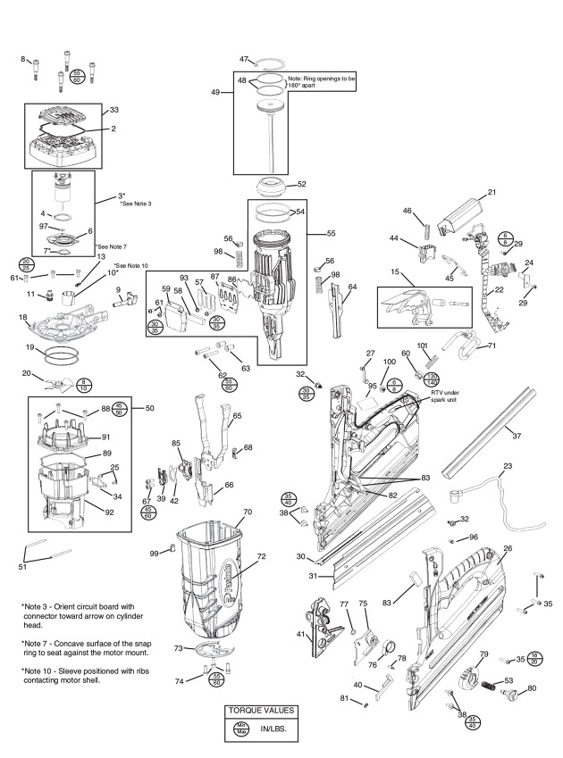 Paslode Im350+ Impulse Framing Nailer Spare Parts - Part Shop Direct with regard to Paslode Framing Nailer Parts Diagram