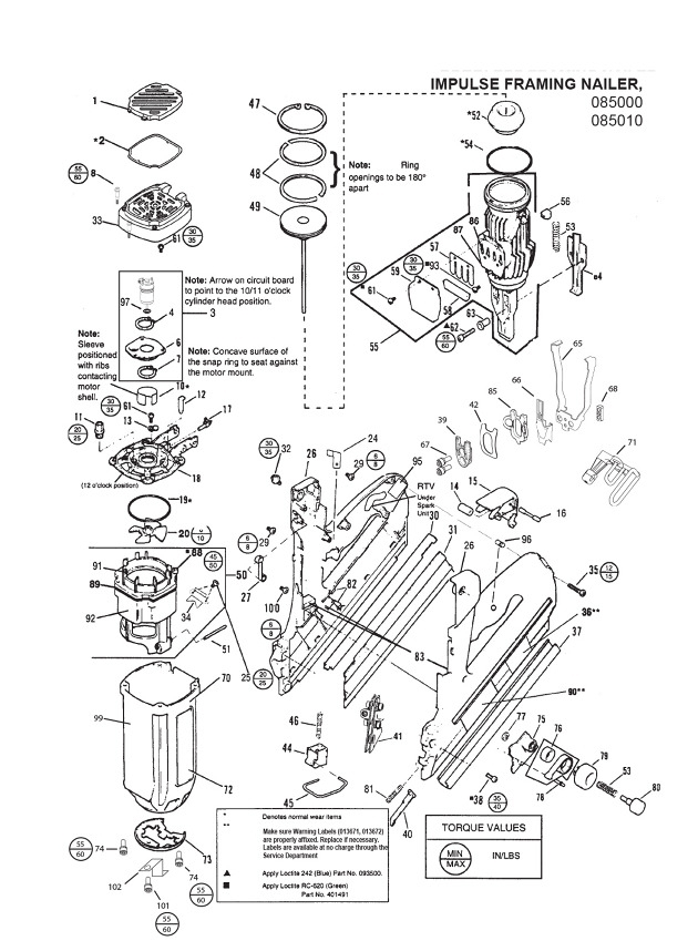 Paslode Im350 Schematic - Paslode Im350 Parts Silver Or Black Nose inside Paslode Framing Nailer Parts Diagram