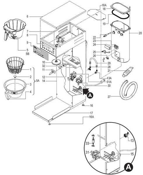Plain Bunn Coffee Maker Parts Reviews Dual Inside Inspiration regarding Bunn Coffee Maker Parts Diagram