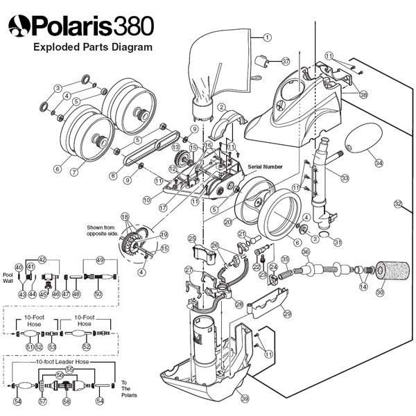 Polaris 380 Parts Diagram, Replacement Parts For Polaris 380 Pool within Polaris Pool Cleaner Parts Diagram