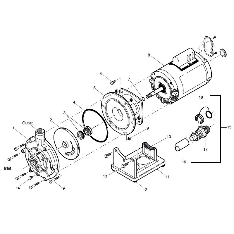 Polaris - Glenridge Pool Supplies inside Ao Smith Motor Parts Diagram