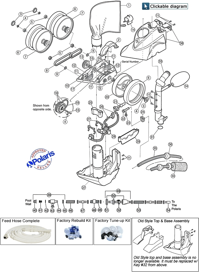 Polaris Model 360 Pool Cleaner Parts Diagram throughout Polaris Pool Cleaner Parts Diagram