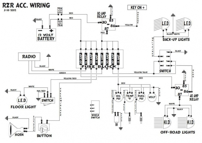 Polaris Rzr 800 Wiring Diagram - Golkit intended for Polaris Rzr 800 Parts Diagram