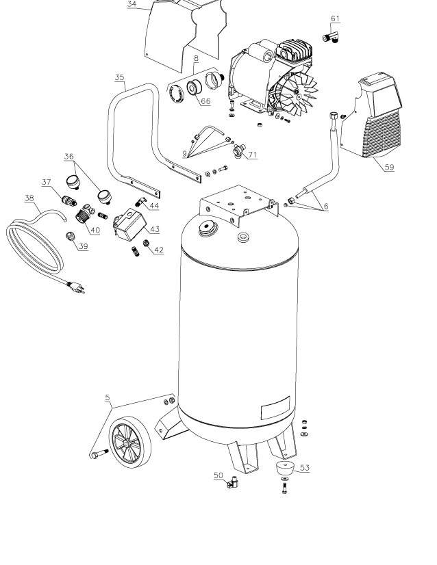 Porter Cable Pxcmf226Vw Parts - Master Tool Repair for Porter Cable Compressor Parts Diagram