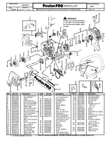 Poulan Chain Saw Diagram | Tractor Repair And Service Manuals with Poulan Pro Chainsaw Parts Diagram