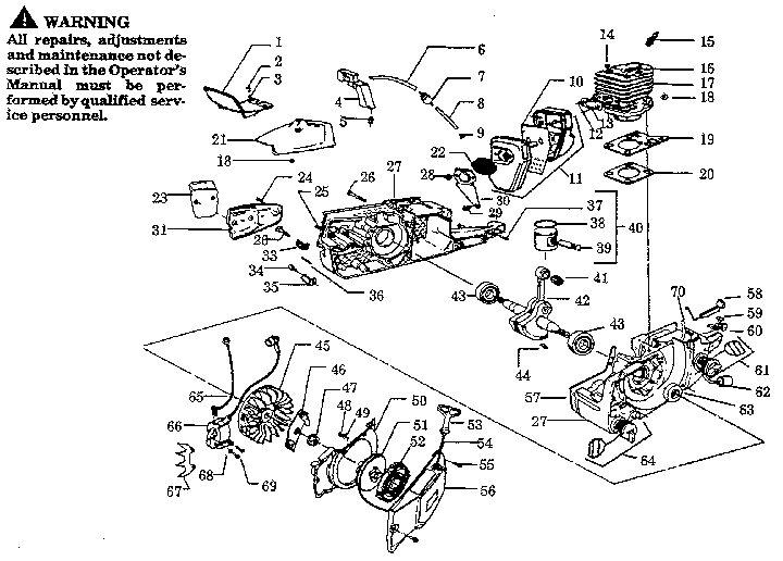 Poulan Pro Chainsaw Parts Diagram