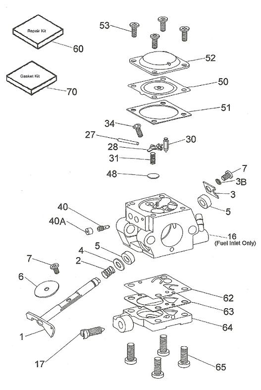 Poulan Leaf Blower Parts Carburetor | Motor Replacement Parts And with Stihl Leaf Blower Parts Diagram
