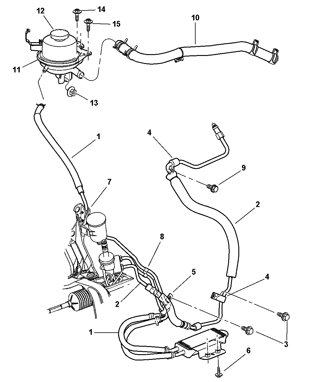 Power Steering Hoses For 2001 Chrysler Town & Country pertaining to 2001 Chrysler Town And Country Parts Diagram
