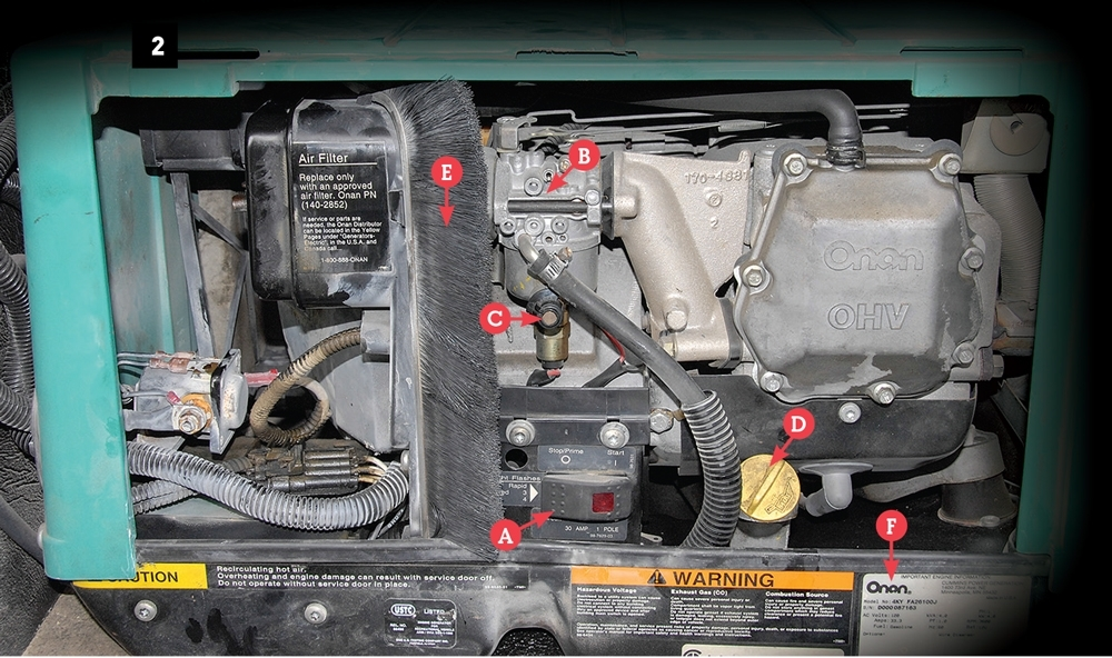 Power Trip | Motorhome Magazine in Onan Rv Generator Parts Diagram