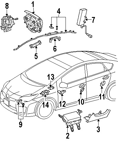Prius Parts Diagram | Periodic & Diagrams Science in 2010 Toyota Prius Parts Diagram