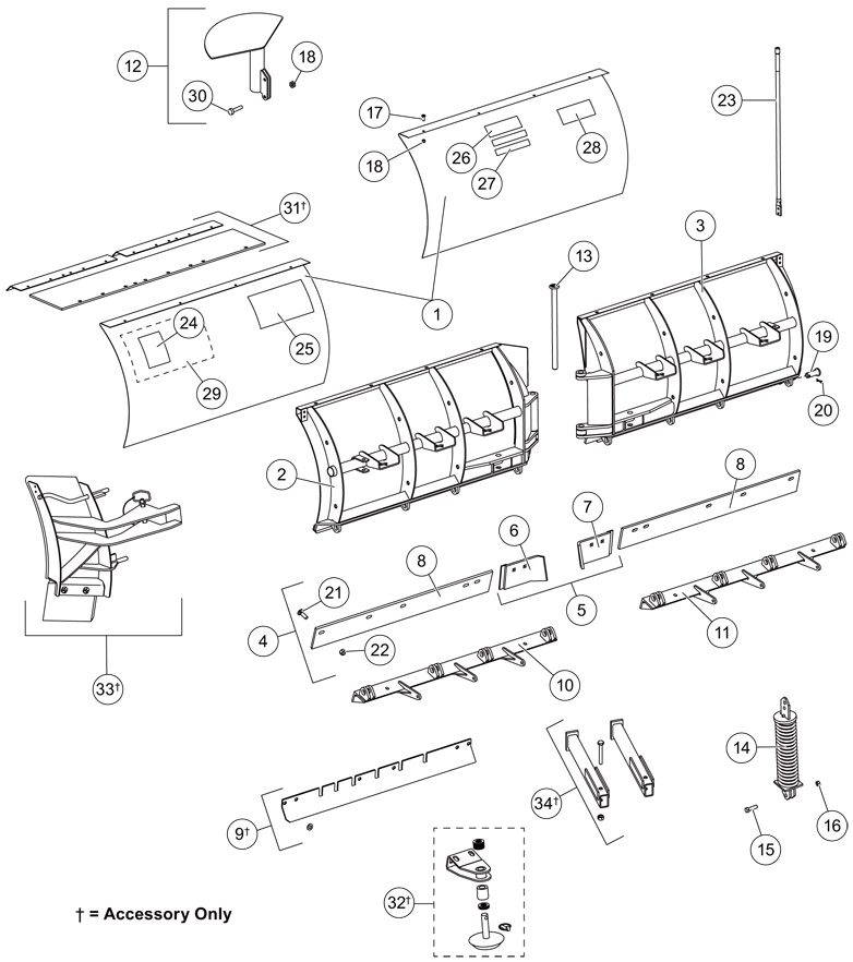 Qte | Western Parts | Western Snow Plow And Spreader Parts with Western Snow Plow Parts Diagram