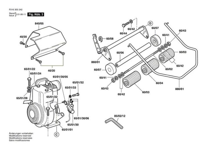 Qualcast Classic Petrol 35S (F016305242) Lawnmower Diagram 3 Spare for Qualcast Classic 35S Parts Diagram