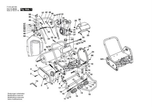 Qualcast Classic Petrol 35S (F016L80730) Lawnmower Spares & Parts with Qualcast Classic 35S Parts Diagram