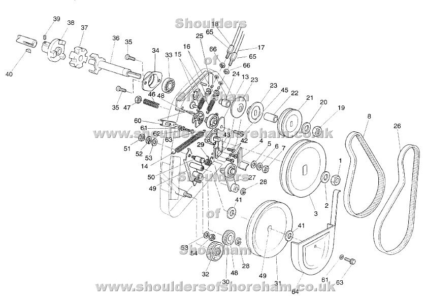 Qualcast Classic Petrol 35S Serial No 008677A To 009480A Spares for Qualcast Classic 35S Parts Diagram