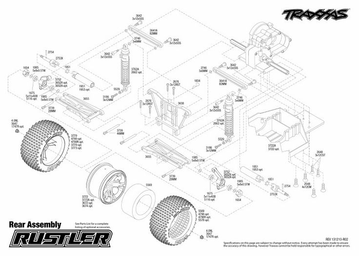Rear End Assembly. | Traxxas Rustler Project | Pinterest | Traxxas in Traxxas Stampede Vxl Parts Diagram