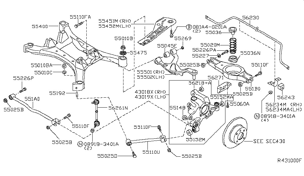 Rear Suspension For 2003 Nissan Altima | Nissan Parts Deal throughout 2003 Nissan Altima Parts Diagram