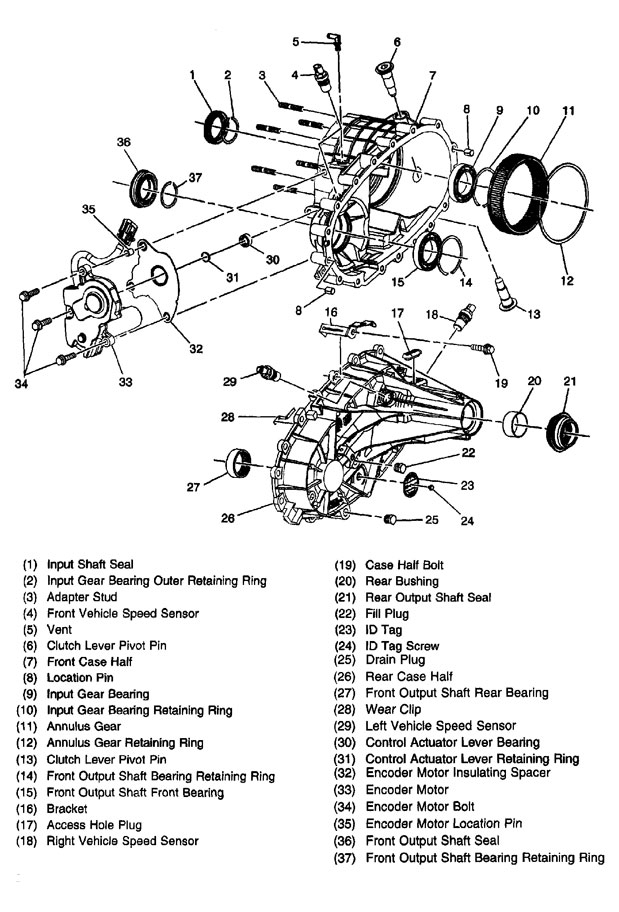 Rebuilt Np246 Transfer Case Rebuild Kits And Parts Plus Parts intended for Gm Parts Diagrams Exploded Views