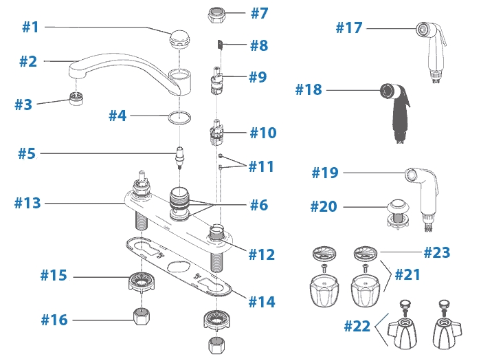 Repair Parts For Delta Kitchen Faucets pertaining to Delta Kitchen Faucet Parts Diagram