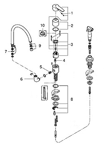 Grohe Kitchen Faucet Parts Diagram