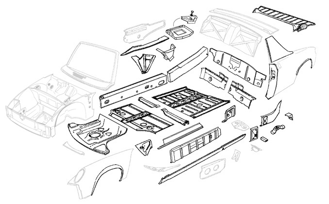 Restoration Design: 914 Chassis & Exterior within Car Exterior Body Parts Diagram