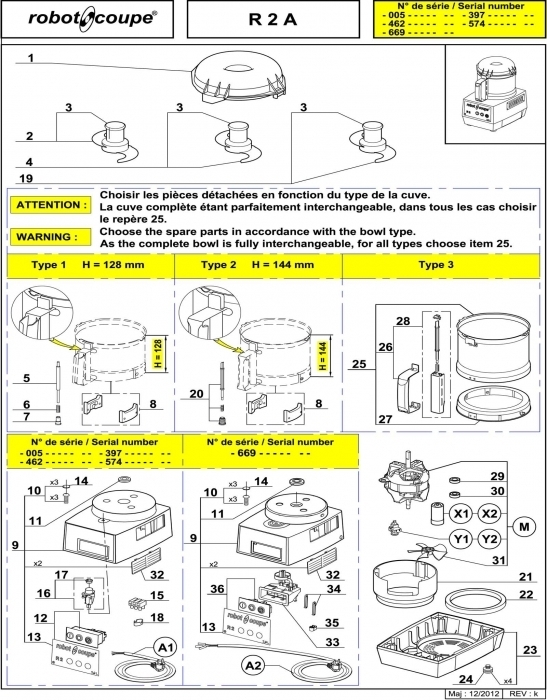 Robot Coupe R2 A Table Top Cutter Spare Parts - Robot Coupe inside Robot Coupe R2 Parts Diagram
