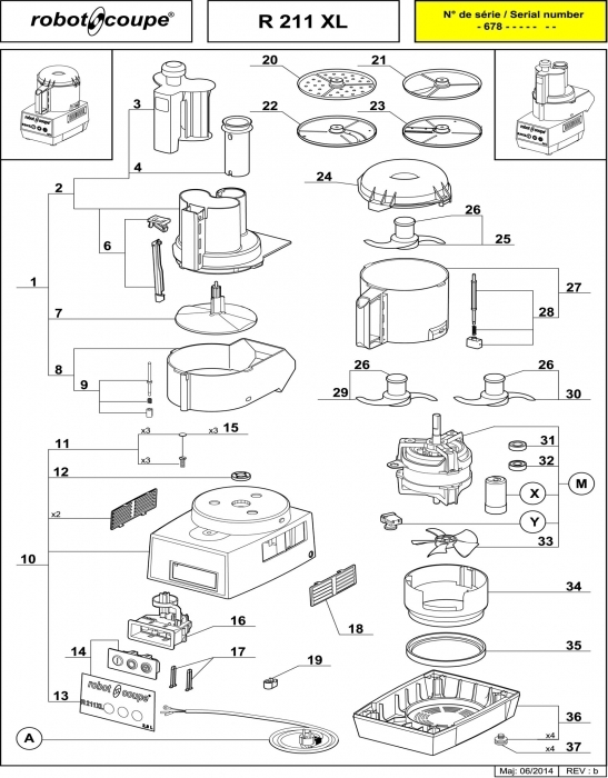 Robot Coupe R211 Xl Food Processor Spare Parts - Robot Coupe pertaining to Robot Coupe R2 Parts Diagram