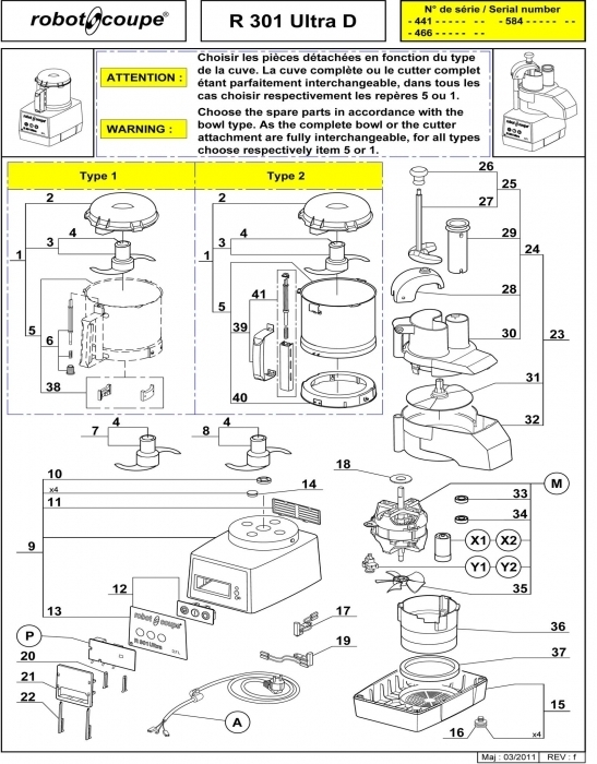 Robot Coupe R301D Ultra D Food Processor Spare Parts - Robot Coupe pertaining to Robot Coupe R2 Parts Diagram