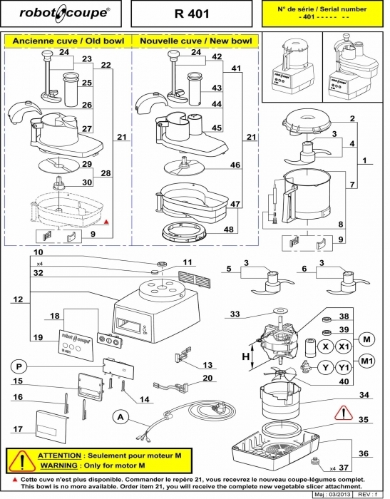 Robot Coupe R401 Food Processor Spare Parts - Robot Coupe Machines inside Robot Coupe R2 Parts Diagram