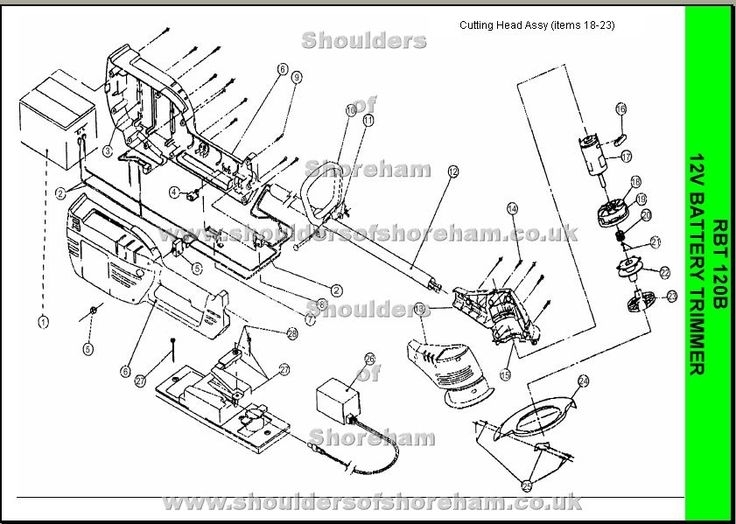 Ryobi Rbt 120 Spare Parts Diagram | Ryobi Trimmer Brushcutter in Stihl Fs 90 Parts Diagram