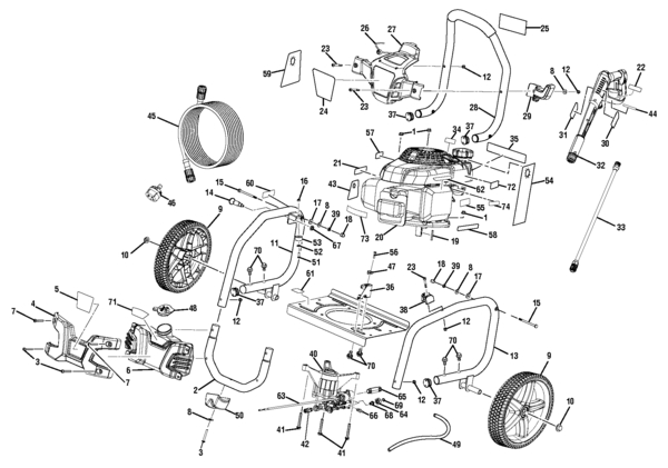 Ryobi Ry80940B Pressure Washer Parts And Accessories- Partswarehouse in Ryobi Pressure Washer Parts Diagram