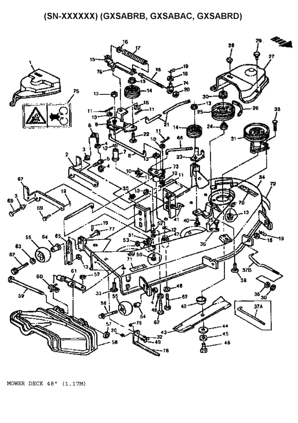 john deere mower deck belt diagram