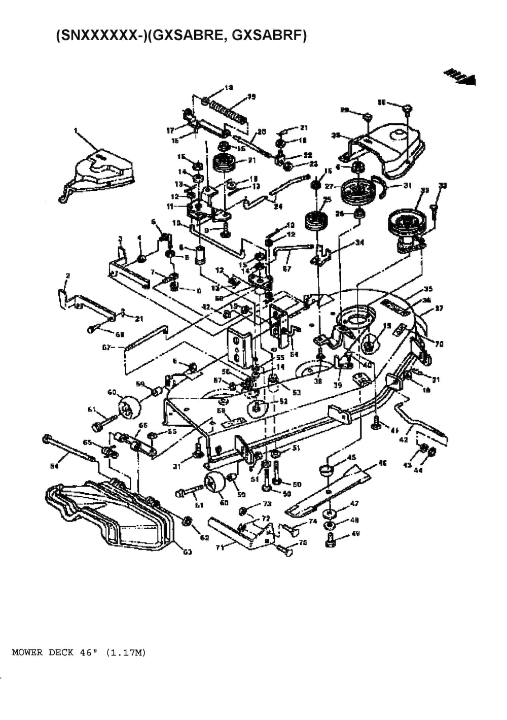 John Deere Gt225 Wiring Diagram on mower deck parts