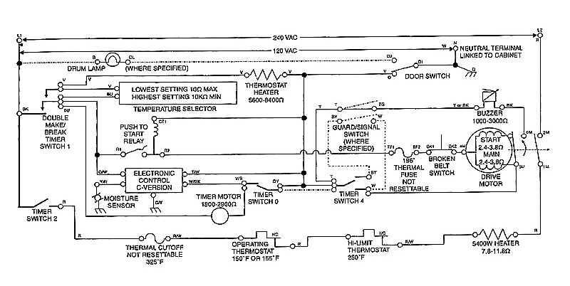 Sample Wiring Diagrams | Appliance Aid with regard to Whirlpool Dryer Diagram Of Parts