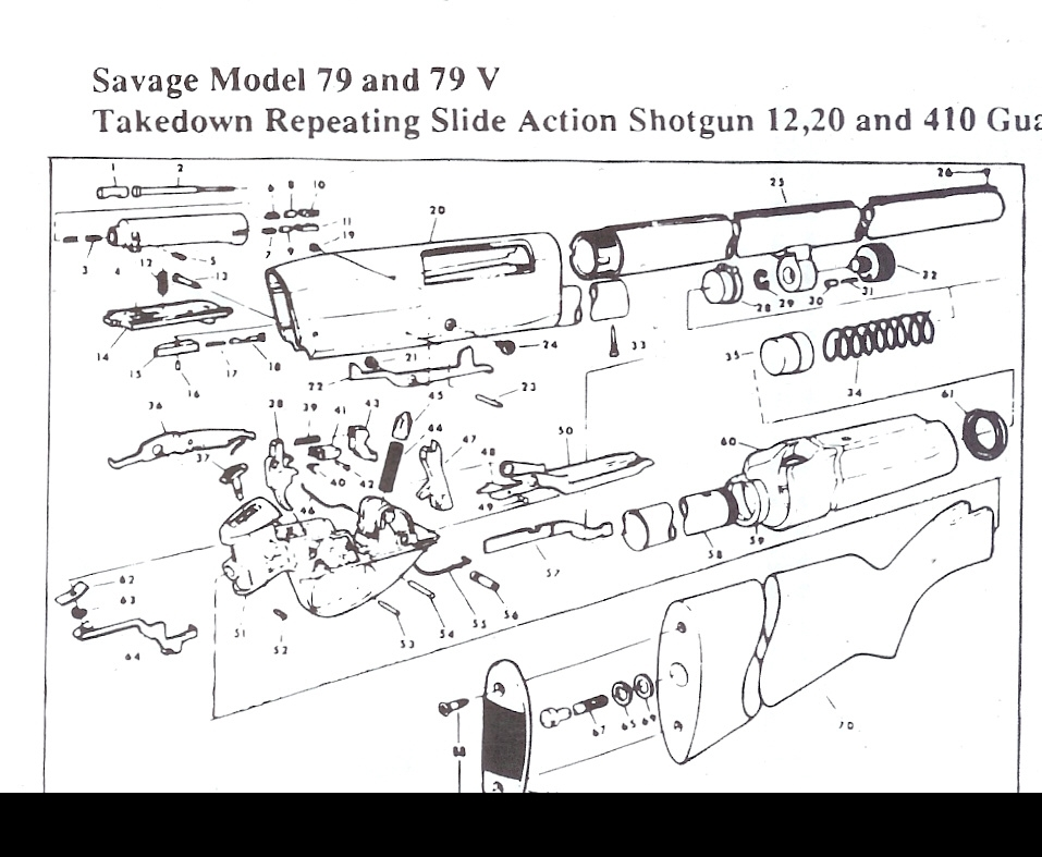 Savage Shotgun Parts, Stevens Shotgun Parts,springfield Shotgun with regard to Savage Model 110 Parts Diagram