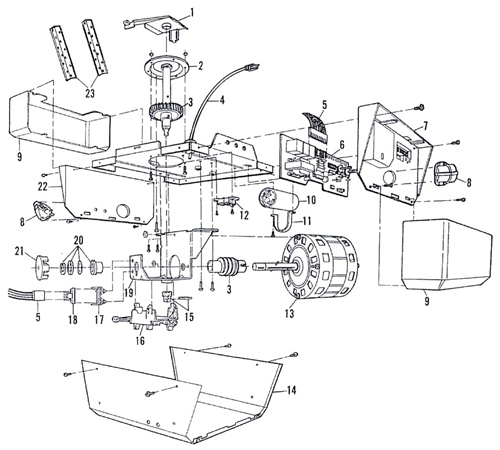 Sears 139.53626Sr Garage Door Opener Parts regarding Garage Door Opener Parts Diagram