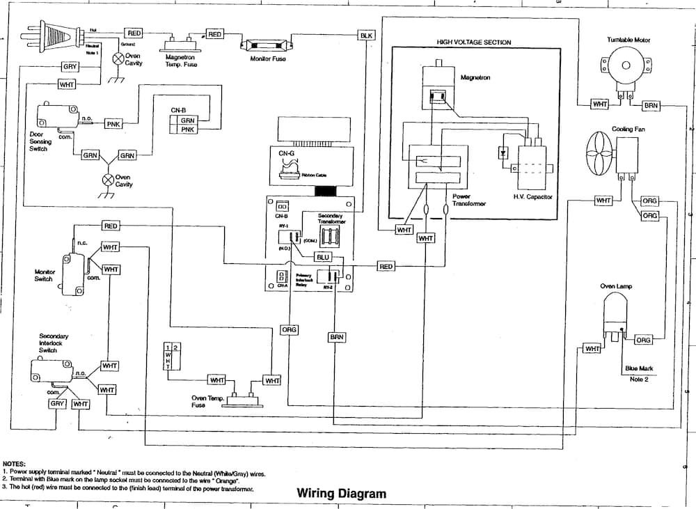 Sears Sharp Microwave – Bestmicrowave with Sharp Carousel Microwave Parts Diagram