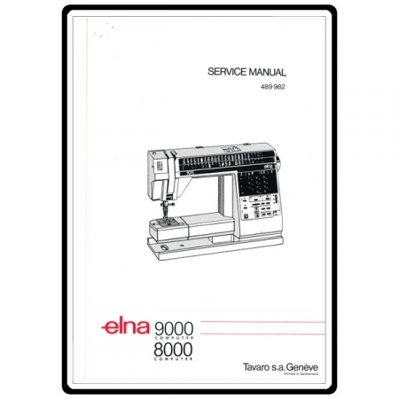 Service Manual, Elna 8000 Computer : Sewing Parts Online pertaining to Elna Sewing Machine Parts Diagram