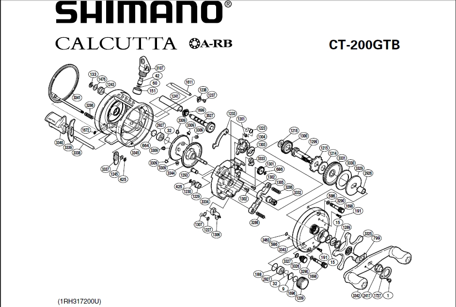 Shimano Reel Parts – Deanlevin regarding Shimano Calcutta 200 Parts Diagram