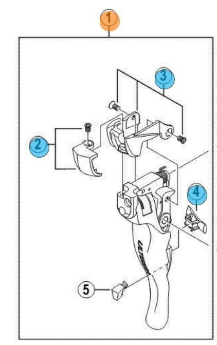 Shimano Ultegra St6700 Trigger Shifter Lever - Right Online intended for Shimano Ultegra Shifter Parts Diagram