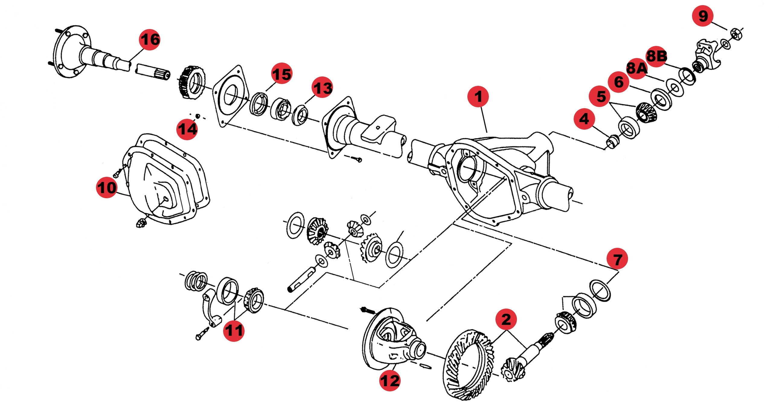 Shopdiagram - Jeep Axle Parts - Axle For Grand Cherokee Rear in 2005 Jeep Grand Cherokee Parts Diagram