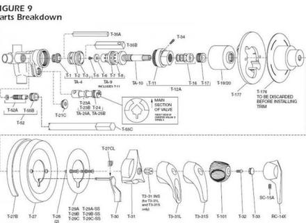 Shower Valve Parts On Kohler Single Handle Shower Valve regarding Kohler Shower Valve Parts Diagram