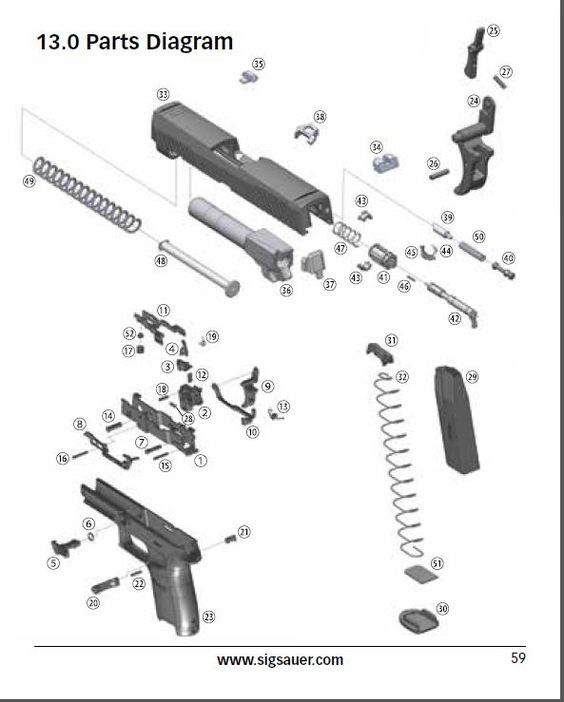 Sig Sauer P320 - Parts Diagram Loading That Magazine Is A Pain within Sig Sauer 1911 Parts Diagram