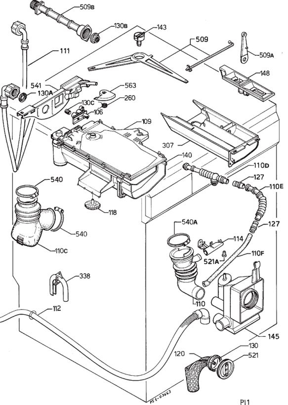 Simple Bosch Washing Machine Parts Diagram 71 To Design Decorating within Bosch Classixx Dishwasher Parts Diagram