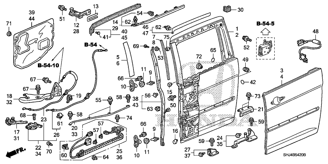 2002 honda odyssey parts diagram