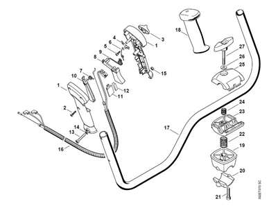 Solved: Assembly Diagram For Throttle Trigger For Stihl Fs - Fixya in Stihl Fs45 Parts Diagram Download