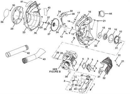 Solved: Pull Cord Binding When Mounted On Engine But Not - Fixya within Poulan Pro Bvm200Vs Parts Diagram