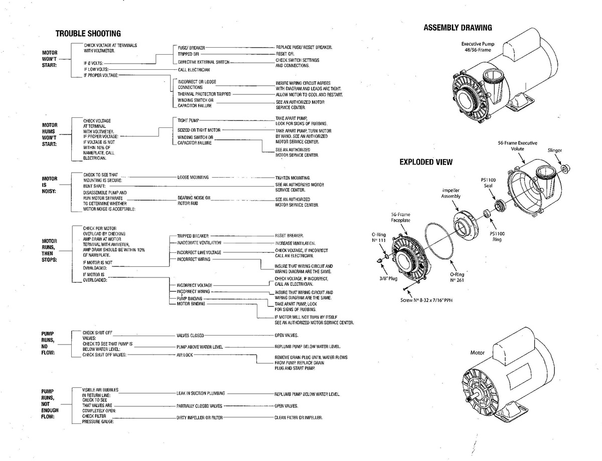 Spa Pump Motor Wiring Diagram, Century Motors Used In Ultra Jet pertaining to Ao Smith Pool Pump Motor Parts Diagram